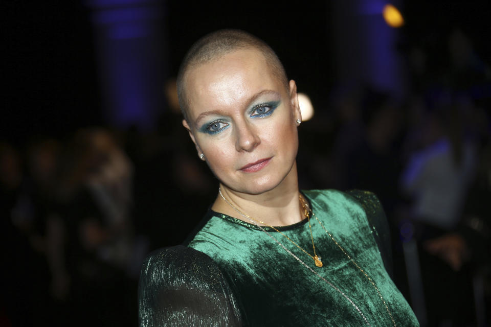 Actress Samantha Morton poses for photographers upon arrival at the British Independent Film Awards in central London, Sunday, Dec. 2, 2018. (Photo by Joel C Ryan/Invision/AP)