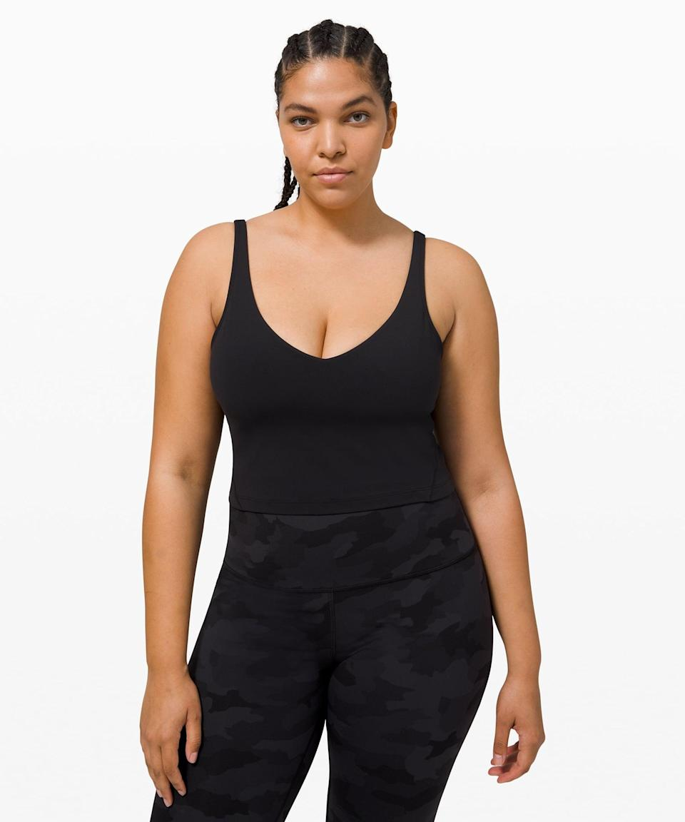 <p>This <span>Lululemon Align Tank Nulu</span> ($58) is made of buttery soft material.</p>