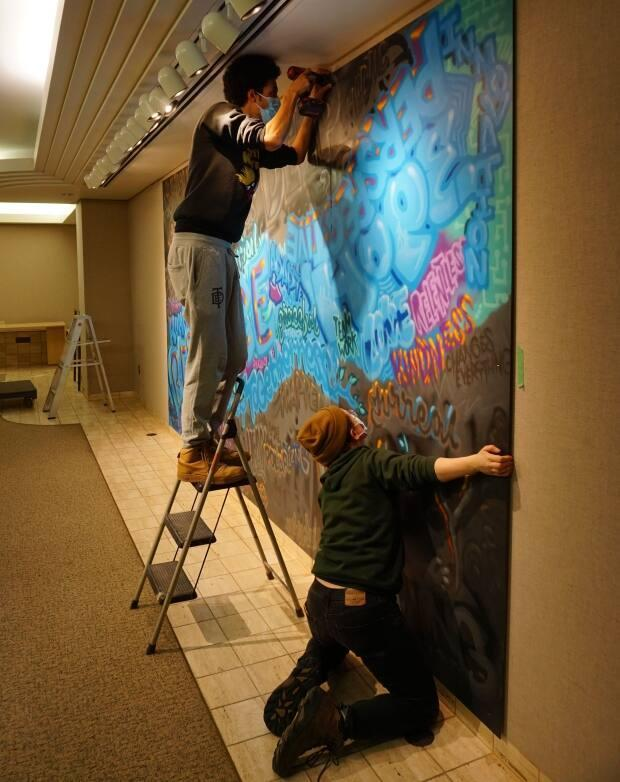 Louden's work was unveiled on Monday at the McMullen Gallery in the hospital.