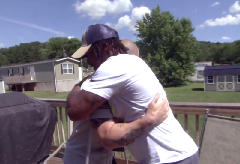 Daylan McKee saved officer Jay Hanley from a burning police vehicle after a crash in Uniontown, Pennsylvania, on 21 June: CBS News