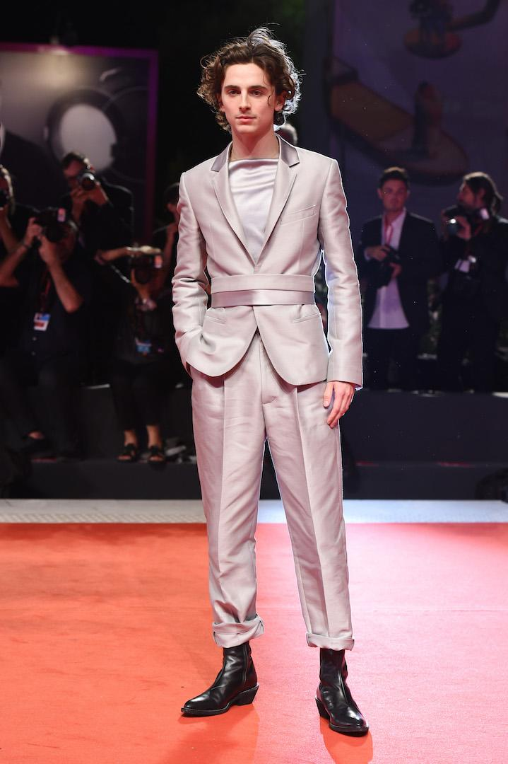 Not one to stick to his sartorial comfort zone, the actor demonstrated his know-how in a metallic Haider Ackermann suit paired with chunky boots. <em>[Photo: Getty]</em>