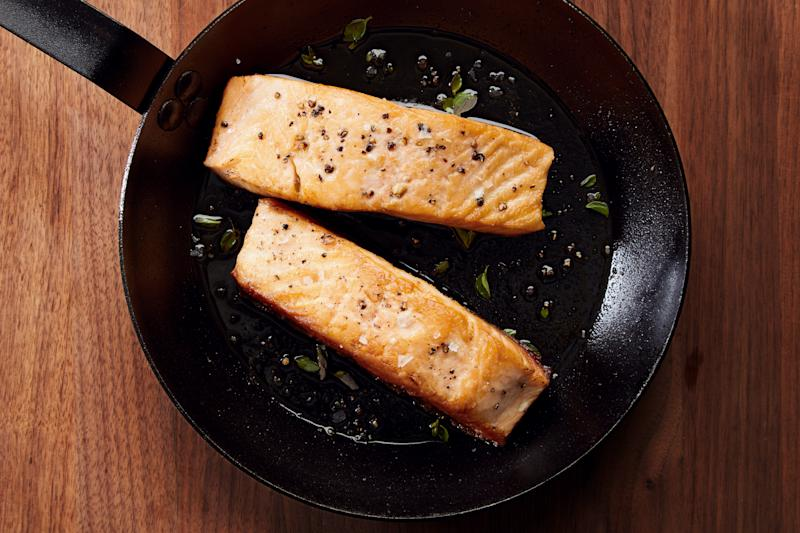 Finally: fish skin that gets crispy and stays crispy. Thanks, carbon steel!