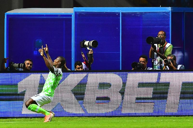 Ighalo scored the winner to get Nigeria off to a strong start in Group B (AFP Photo/Giuseppe CACACE)