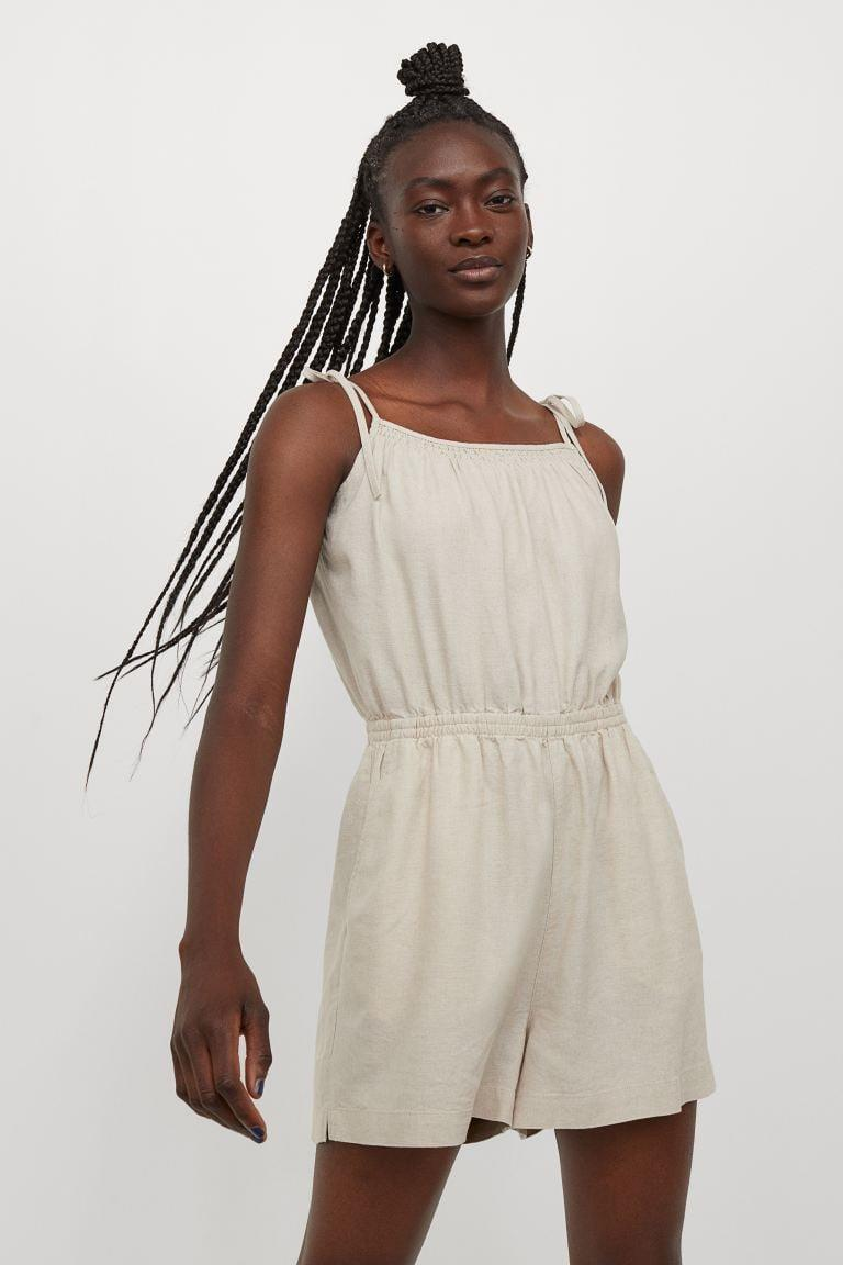 <p>We're already envisioning ourselves in this <span>H&amp;M Linen-blend Romper</span> ($30). The breathable piece matches with everything from sneakers to sandals.</p>