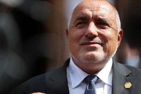 FILE PHOTO: Bulgaria's Prime Minister Boyko Borissov speaks at the Western Balkans Summit in London