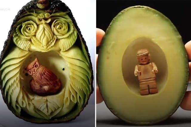 Artist makes amazing carvings in fruits and vegetables