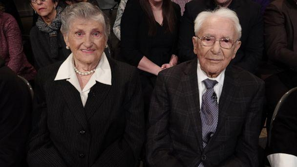 PHOTO: Mikhl Baran and Millie Baran remember falling in love after escaping concentration camps during the Holocaust on 'The View,' Jan. 27, 2020. (ABC News)