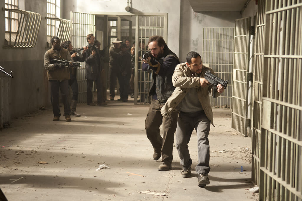"Allen (Daniel Thomas May) and Martinez (Jose Pablo Cantillo) in ""The Walking Dead"" Season 3 Finale, ""Welcome to the Tombs."""