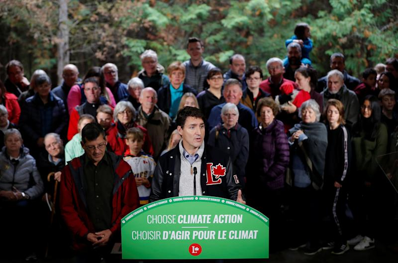 Liberal leader and Canadian Prime Minister Justin Trudeau attends a press conference after a tree planting during an election campaign visit to Plainfield, Ontario, Canada October 6, 2019. REUTERS/Stephane Mahe (Photo: Stephane Mahe / Reuters)