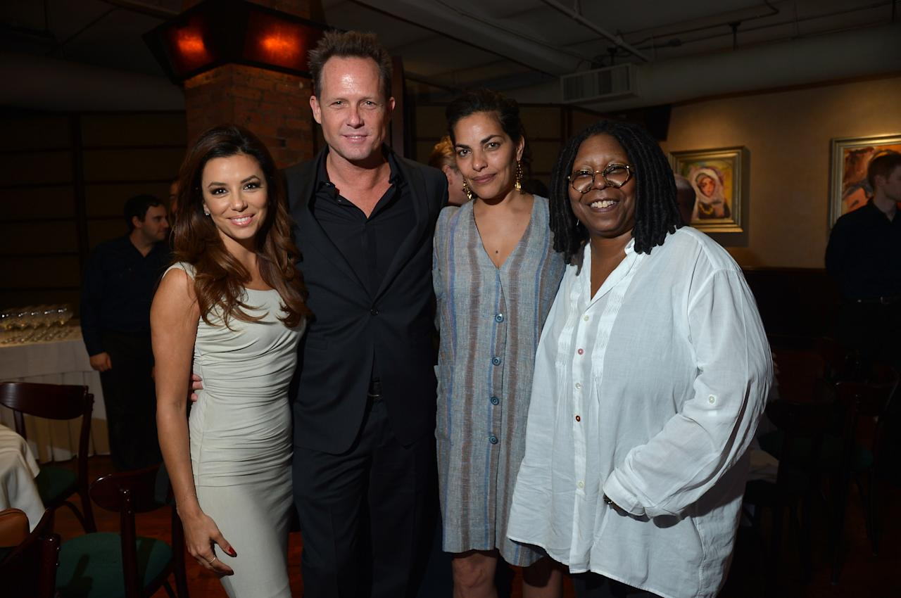 NEW YORK, NY - APRIL 18:  Eva Longoria, Dean Winters and Whoopi Goldberg attend the Juror Welcome Lunch during the 2013 Tribeca Film Festival at Tribeca Grill Loft on April 18, 2013 in New York City.  (Photo by Mike Coppola/Getty Images)