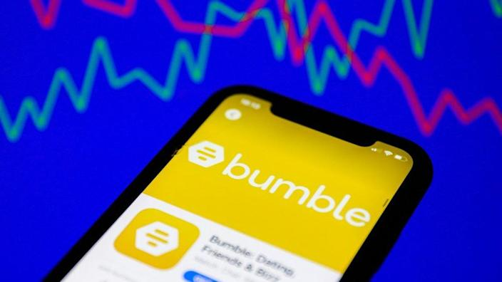 Bumble on a phone