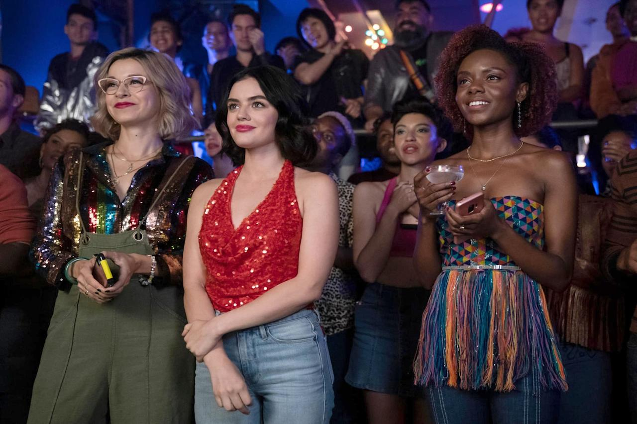 """<p><strong>Riverdale</strong>'s second spinoff (the first being Netflix's <strong>Chilling Adventures of Sabrina</strong>) stars <strong>Pretty Little Liars</strong>' Lucy Hale as the titular Archie-verse character. The series follows aspiring fashion designer Katy as she works as a personal shopper and tries to make it in New York City (while also serving as an independent female icon for ladies everywhere). </p> <p><a href=""""http://www.cwtv.com/shows/katy-keene/"""" target=""""_blank"""" class=""""ga-track"""" data-ga-category=""""Related"""" data-ga-label=""""http://www.cwtv.com/shows/katy-keene/"""" data-ga-action=""""In-Line Links"""">Watch <strong>Katy Keene</strong> on The CW TV</a>. </p>"""