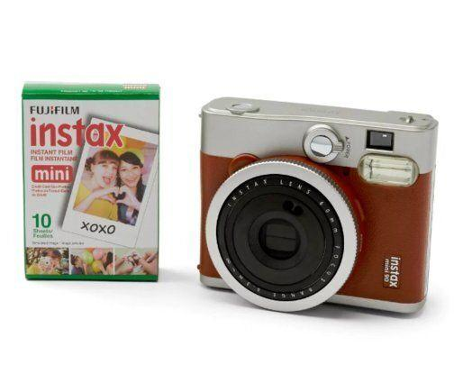 """Fuji Instax Mini 90 Classic Camera in Brown, $164.98. Available at <a href=""""https://www.bestbuy.ca/en-ca/product/fujifilm-instax-mini-90-neo-classic-instant-camera-two-toned-brown/10639135.aspx"""" target=""""_blank"""" rel=""""noopener noreferrer"""">Best Buy Canada</a>."""