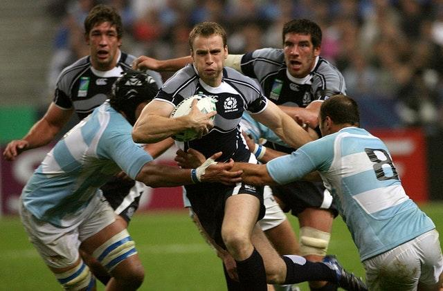 Mike Blair, centre, made 85 appearances for Scotland (Anthony Devlin/PA)