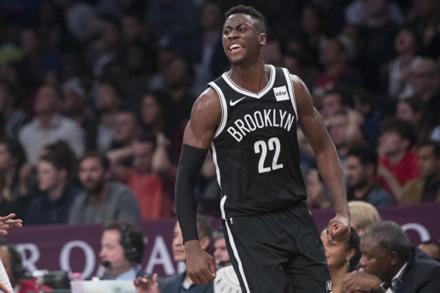 "<a class=""link rapid-noclick-resp"" href=""/nba/players/5651/"" data-ylk=""slk:Caris LeVert"">Caris LeVert</a> appears to be reaching a new level this season. (AP)"