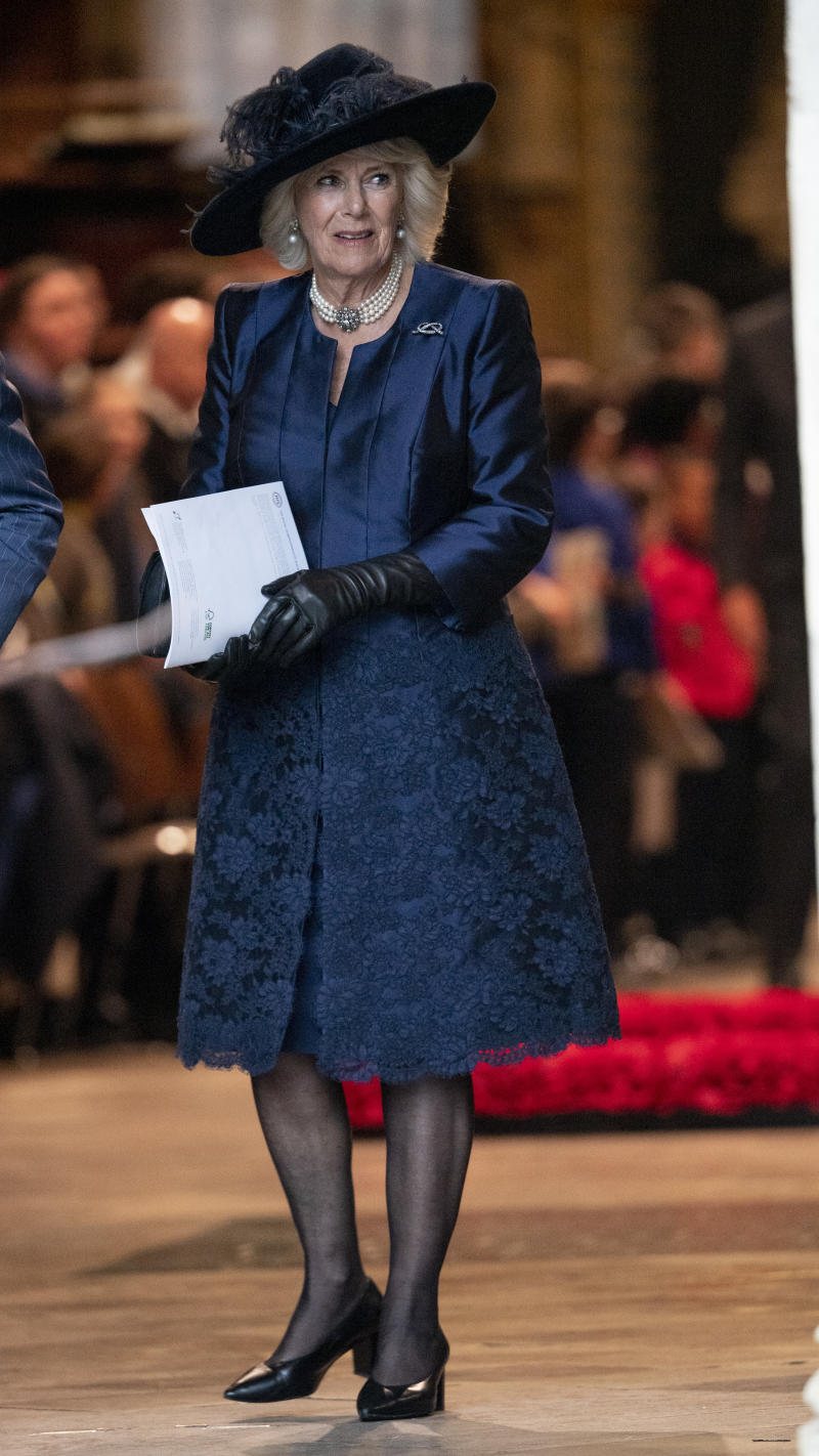 Camilla Parker Bowles at Westminster Abbey