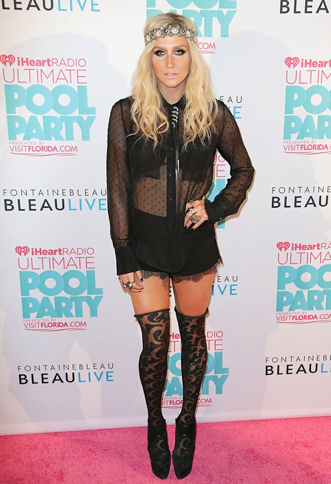 MIAMI BEACH, FL - JUNE 29: Ke$ha attends iHeartRadio Ultimate Pool Party Presented By VISIT FLORIDA at Fontainebleau Miami Beach on June 29, 2013 in Miami Beach, Florida. (Photo by Alexander Tamargo/WireImage)