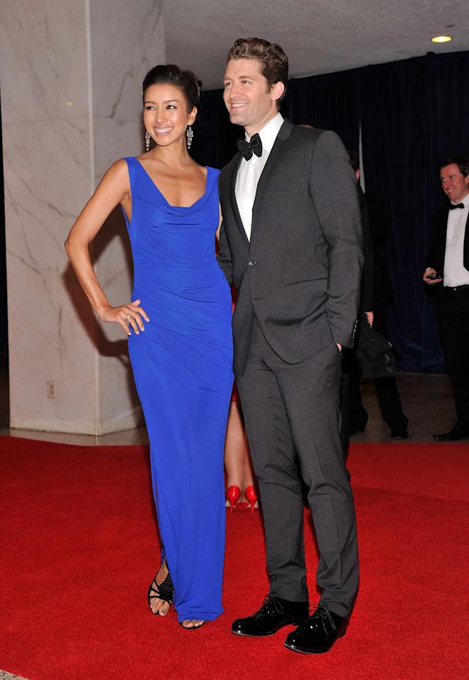 WASHINGTON, DC - APRIL 28:  Renee Puente and actor Matthew Morrison attend TIME/PEOPLE/FORTUNE/CNN White House Correspondents' Association Dinner Cocktail Party at the Hilton Hotel on April 28, 2012 in Washington, DC.  (Photo by Stephen Lovekin/Getty Images)