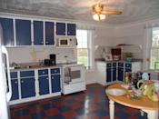 <p>No budget for new cabinets? No problem! Brandi Sawyer made the most of what she had by thickening the door frames with plywood and applying beadboard wallpaper to complete change her cupboards.</p>