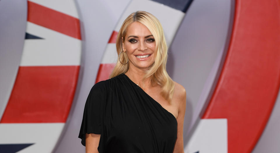 Tess Daly looked stylish for the second Strictly Come Dancing results show of the series. (Getty Images)