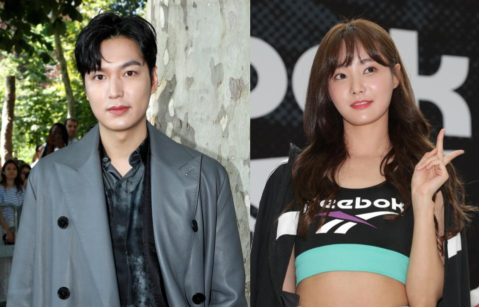 South Korean superstar Lee Min Ho's agency MYM Entertainment on 30 August 2021 refuted a report by Dispatch that he is dating ex-Momoland singer Yeonwoo. (Photos: Getty Images)