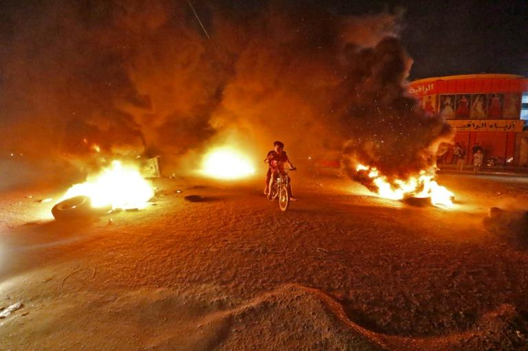 Soaring summer temperatures paired with crippling electricity shortages often provoke significant unrest, with protests hitting Basra (pictured) and elsewhere last year (AFP Photo/Haidar MOHAMMED ALI)
