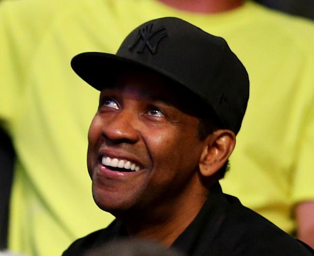 NEW YORK, NY - MAY 12: Denzel Washington attends Game Four of the Eastern Conference Semifinals during the 2014 NBA Playoffs at the Barclays Center on May 12, 2014 in the Brooklyn borough of New York City. The Miami Heat defeated the Brooklyn Nets 102-96. NOTE TO USER: User expressly acknowledges and agrees that, by downloading and/or using this photograph, user is consenting to the terms and conditions of the Getty Images License Agreement. (Photo by Elsa/Getty Images)