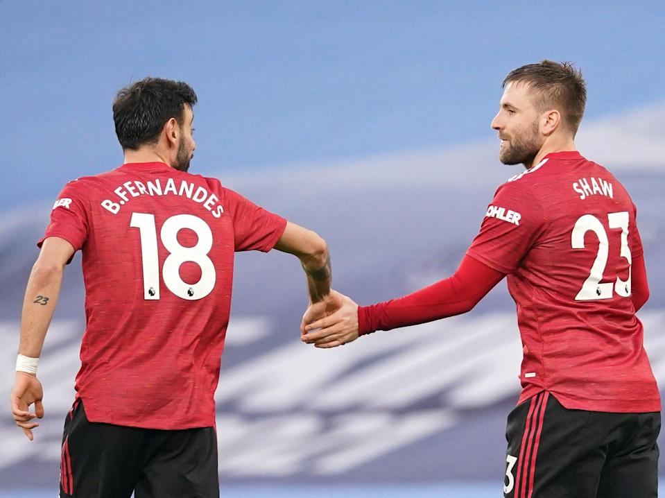 Bruno Fernandes and Luke Shaw netted as Manchester United won the derby (Getty Images)