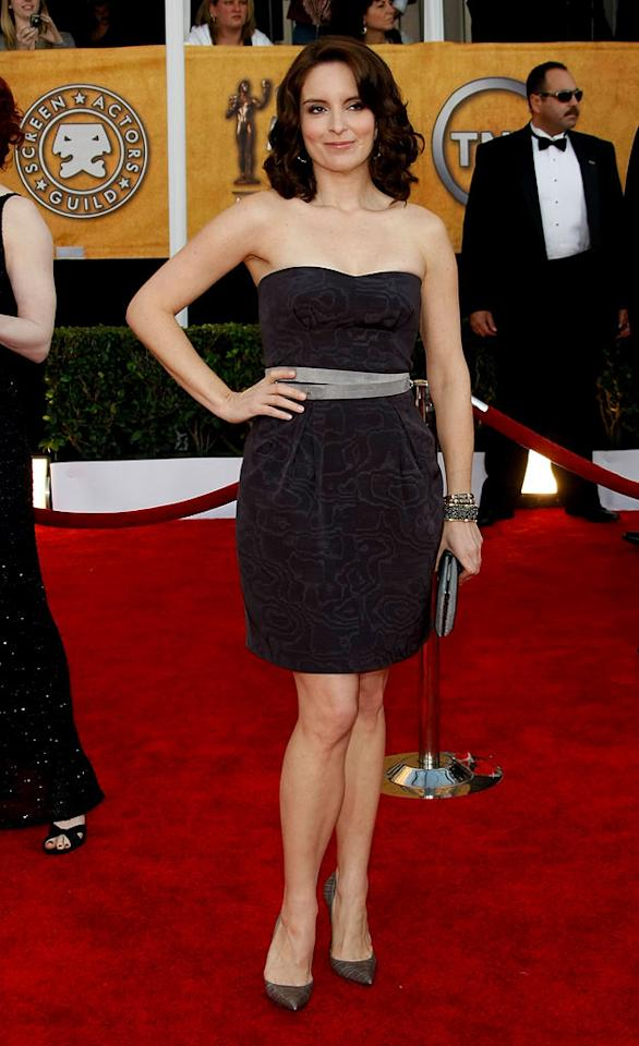 "<a href=""/tina-fey/contributor/37979"">Tina Fey</a> arrives at the <a href=""/the-15th-annual-screen-actors-guild-awards/show/44244"">15th Annual Screen Actors Guild Awards</a> held at the Shrine Auditorium on January 25, 2009 in Los Angeles, California."