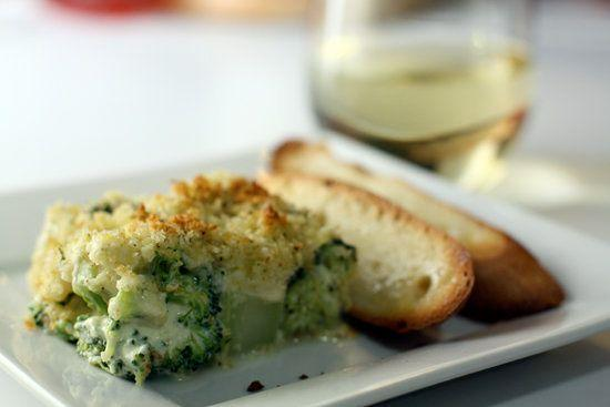 """<strong>Get the <a href=""""http://www.macheesmo.com/2009/02/broccoli-parmesan-gratin/"""" rel=""""nofollow noopener"""" target=""""_blank"""" data-ylk=""""slk:Broccoli Parmesan Gratin recipe from Macheesmo"""" class=""""link rapid-noclick-resp"""">Broccoli Parmesan Gratin recipe from Macheesmo</a></strong>"""