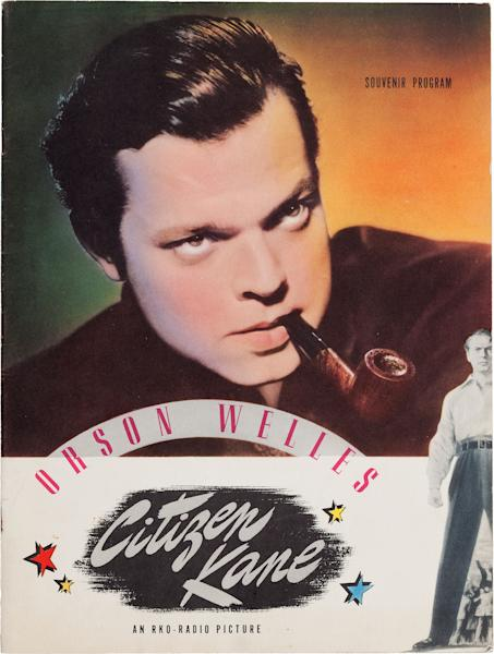 """This photo provided by Heritage Auctions shows Orson Welles' personal copy of a souvenir program from his classic 1941 film, """"Citizen Kane,"""" which is among the legendary actor, director and scriptwriter's items consigned by his daughter, Beatrice Welles, that will be offered by Heritage Auctions in New York City on April 26, 2014. (AP Photo/Heritage Auctions)"""