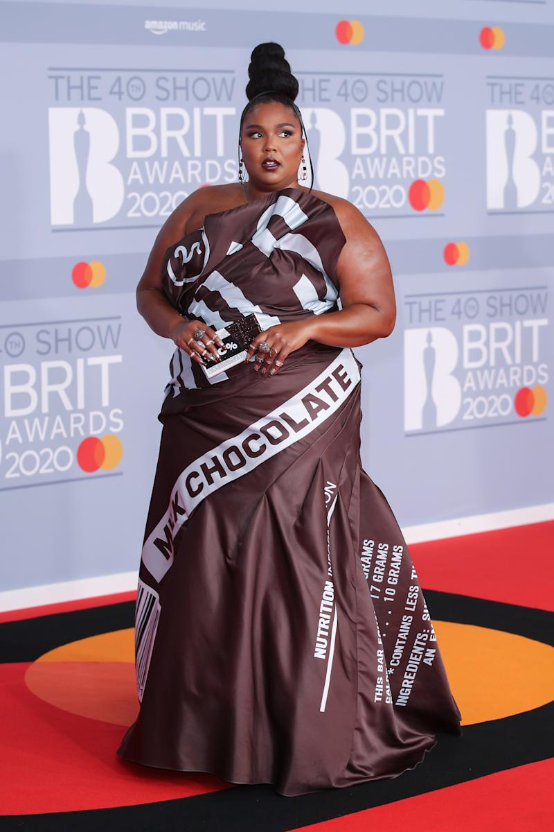 The dress was custom-made by Moschino. (Getty Images)