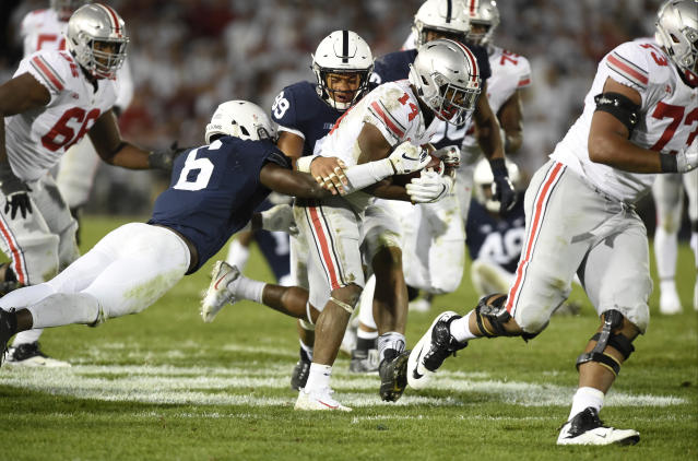 The last three Penn State vs. Ohio State games have been decided by a combined five points. (Photo by Randy Litzinger/Icon Sportswire via Getty Images)