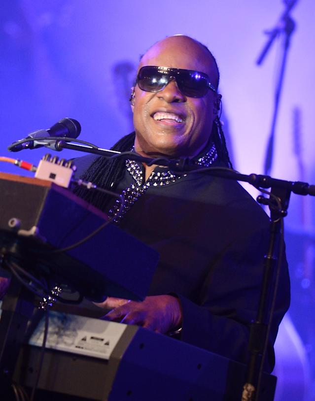 NEW ORLEANS, LA - FEBRUARY 02: Musician Stevie Wonder performs onstage at Bud Light Presents Stevie Wonder and Gary Clark Jr. at the Bud Light Hotel on February 2, 2013 in New Orleans, Louisiana. (Photo by Stephen Lovekin/Getty Images for Bud Light)