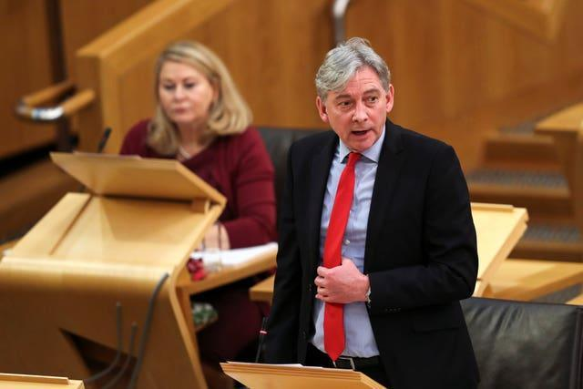 Richard Leonard in Holyrood