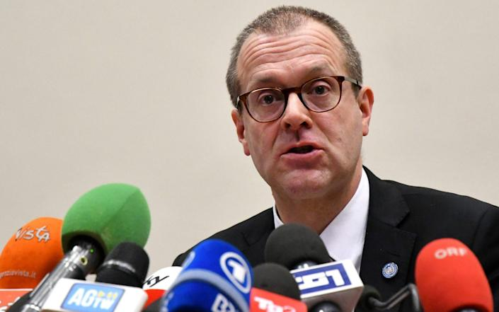 Dr Hans Kluge, the WHO's regional director for Europe -  ALBERTO PIZZOLI / AFP