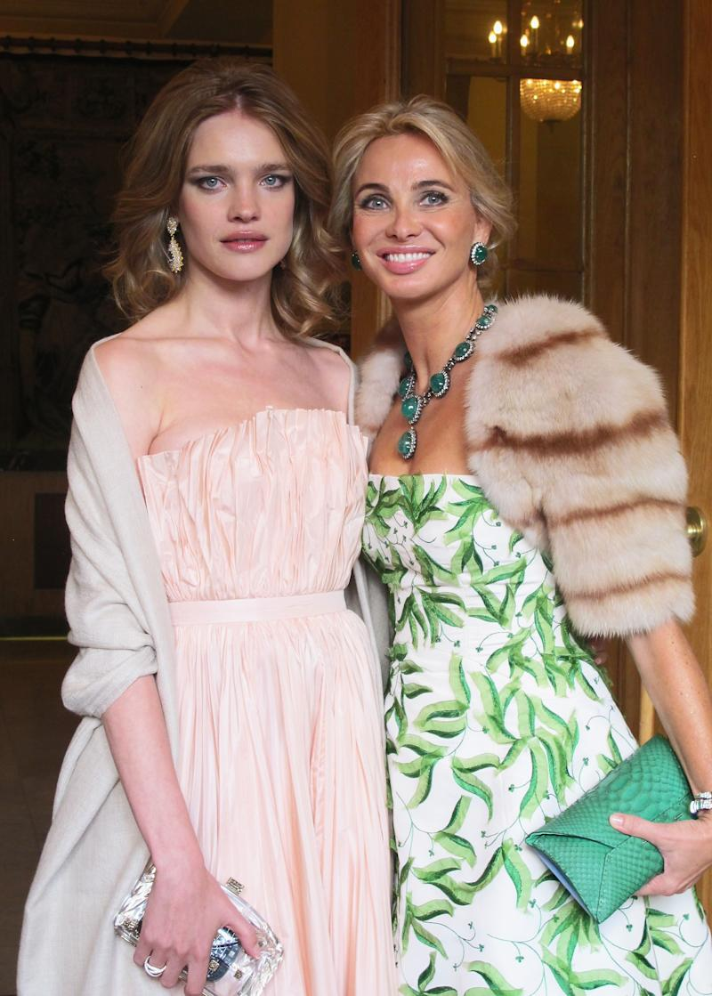 SAINT PETERSBURG, RUSSIA - JUNE 21: Natalia Vodianova and Corinna zu Sayn-Wittgenstein attend the White Nights Festival on June 21, 2014 in St. Petersburg, Russia. The White Nights Festival is an annual international arts festival during the season of the midnight sun. (Photo by Handout/Getty Images)