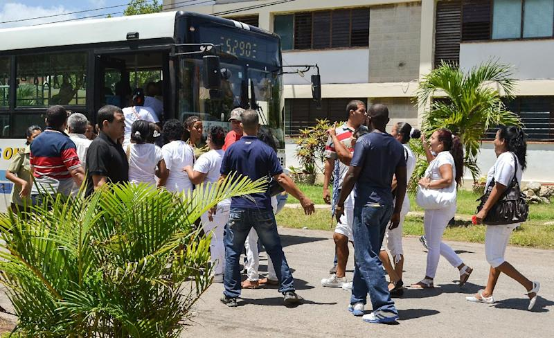 Members of the Ladies in White opposition movement are arrested in Havana on July 13, 2014