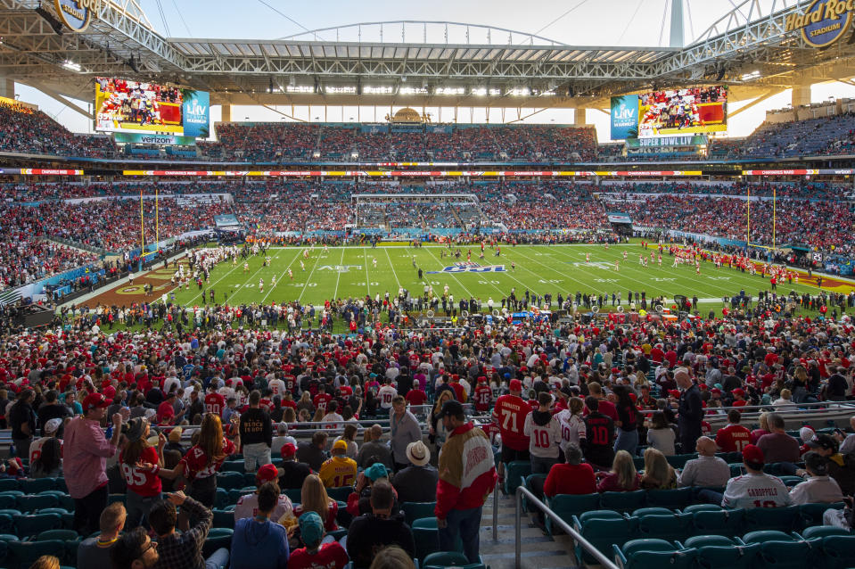 The NFL is determined to start the 2020 season on schedule and with fans filling its stadiums. (Photo by Doug Murray/Icon Sportswire via Getty Images)