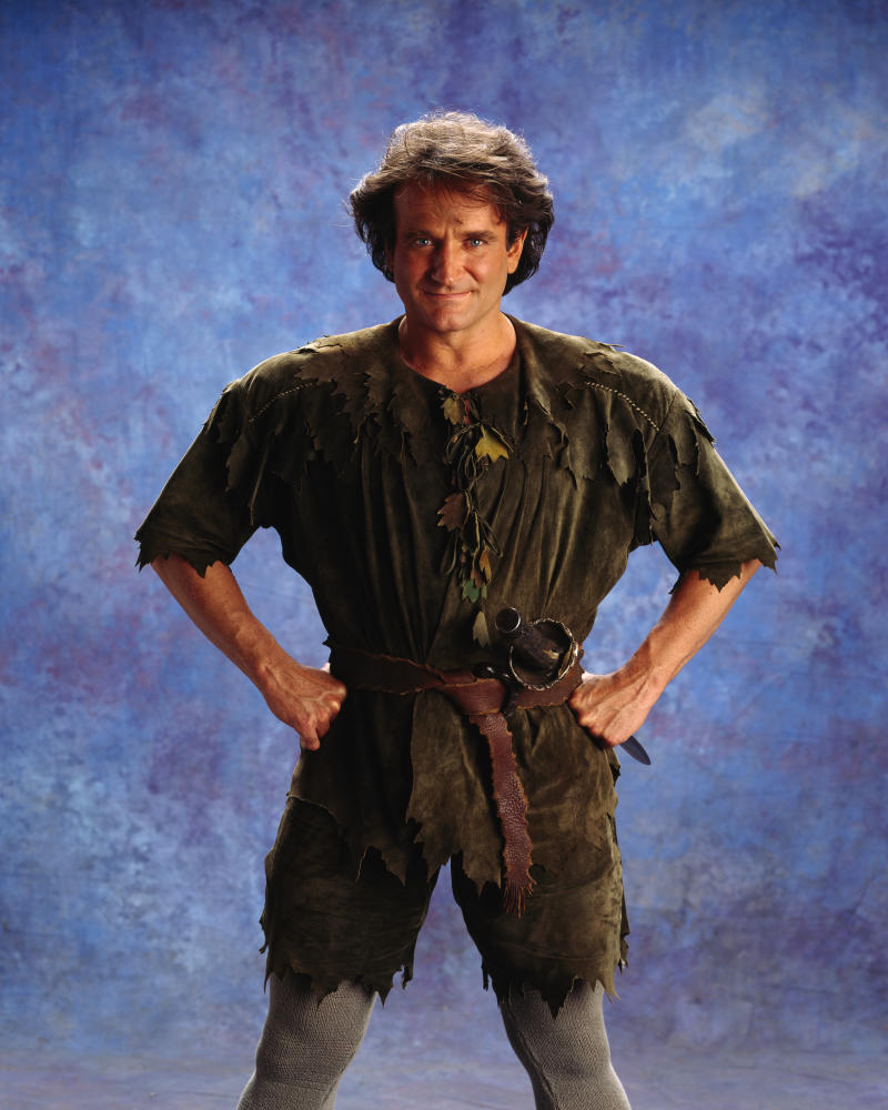 Robin Williams as Peter Pan for the Film Hook (Photo by Murray Close/Sygma/Sygma via Getty Images)