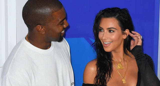 Kim Kardashian and Kanye West (Photo: Getty Images)