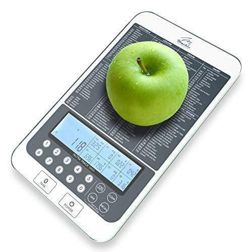 <p>Not only does this <span>NutraTrack Mini Digital Food Multifunction Scale </span> ($45) weigh your food, but it helps you track food portions and calories.</p>