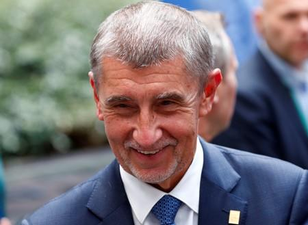 FILE PHOTO: Czech Prime Minister Andrej Babis leaves a European Union summit
