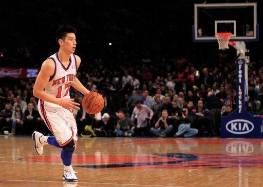 Jeremy Lin of the New York Knicks during the NBA game against the Atlanta Hawks on February 22. Lin scored 17 points and added nine assists to spark the Knicks over Atlanta 99-82, improving the team to 9-2 since the Asian-American star emerged from a reserve role