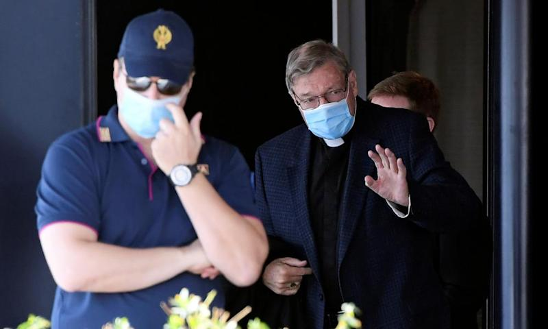 George Pell arrives at Rome's Fiumicino airport
