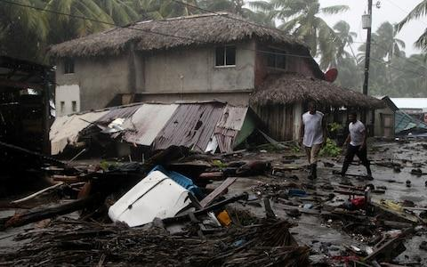 Devastation on the northern coast of the Dominican Republic becomes clear in daylight - Credit: RICARDO ROJAS/Reuters