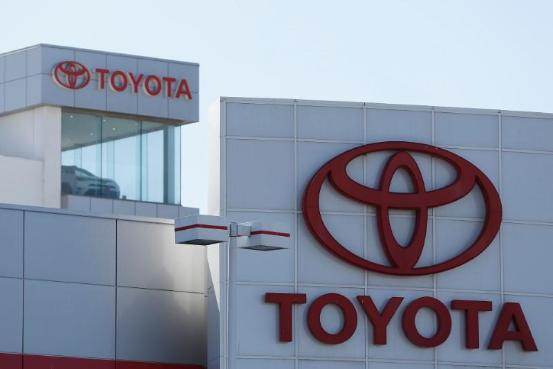 Toyota logos are seen at City Toyota in Daly City, California, U.S., October 3, 2017. REUTERS/Stephen Lam
