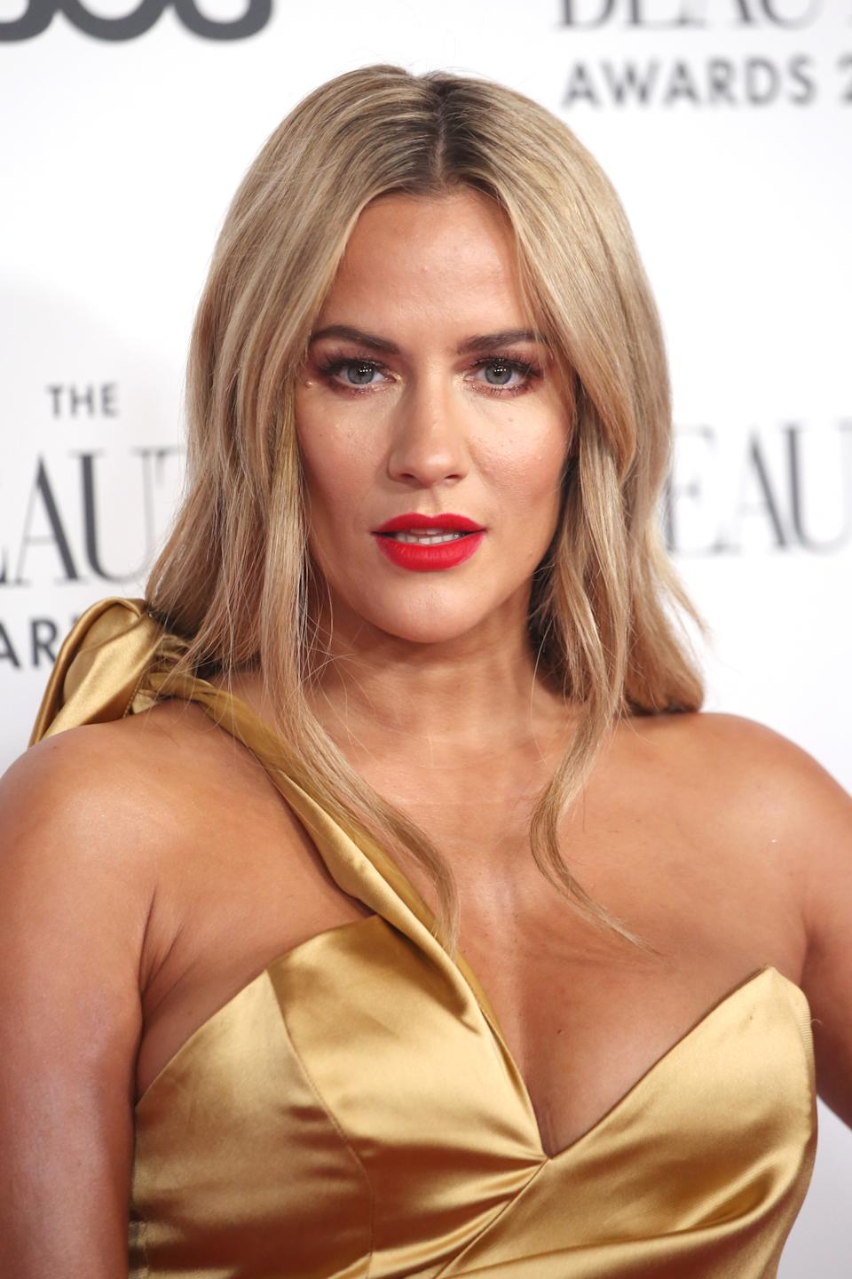LONDON, ENGLAND - NOVEMBER 25: Caroline Flack attends The Beauty Awards 2019 on November 25, 2019 in London, England. (Photo by Lia Toby/Getty Images)