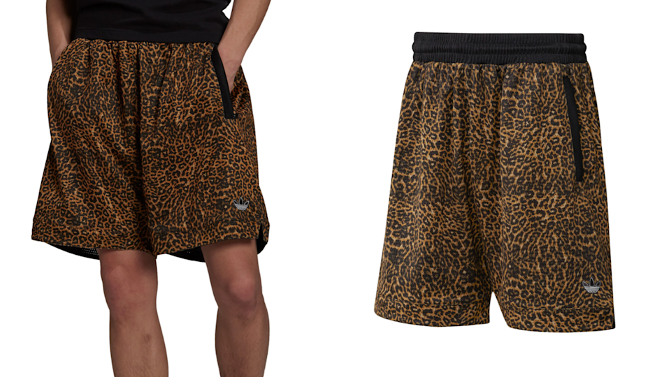 Show off your wild side with these animal print shorts from Adidas.