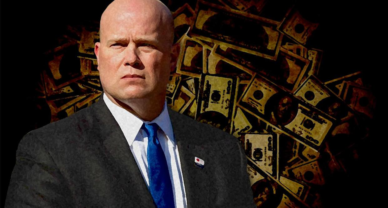 Acting Attorney General Matt Whitaker. (Photo illustration: Yahoo News; photos: AP, Getty Images)